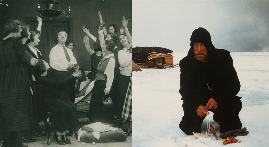 Stills from The Norrtull Gang (1923) and Flight of the Eagle (1982)